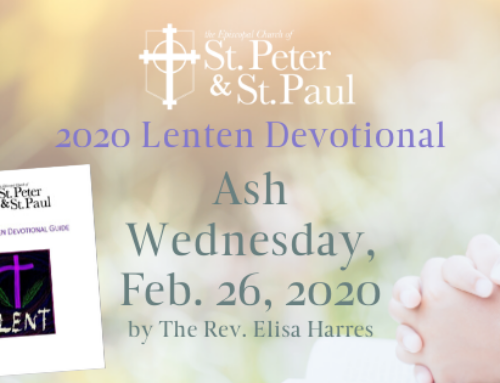 Lenten Devotional Ash Wednesday, February 26, 2020