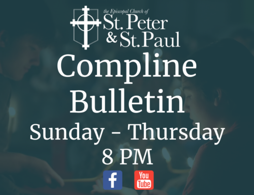 Click Here for Compline Bulletin